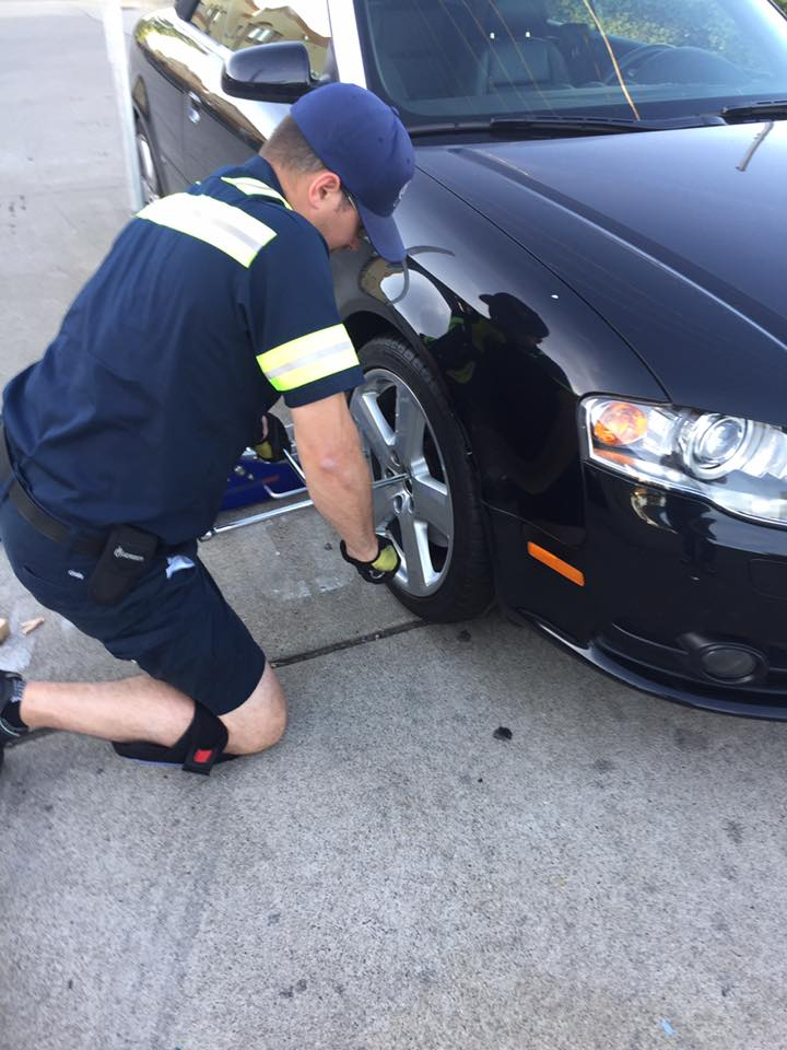 flat tire replacement in Chantilly VA